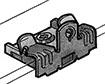 Clips avec passage collier de serrage