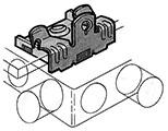 Clips avec vis intégrée M6x11