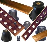 Barres de cuivre et isolateurs