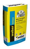 Béton travaux courants de maçonnerie weber béton 25 kg