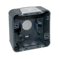 Boîte - 1 poste - Gris - IP55