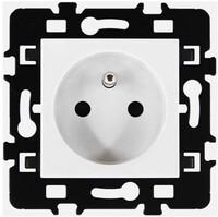 Bloc prise simple Esprit blanc 2P+T 16A EUR'OHM 61860