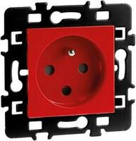 Prise 2P+T rouge détrompée EUR'OHM 61862