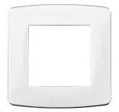 Plaque blanche 1 poste EUR'OHM 61895