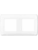 Plaque blanche 2 postes. ent 71mm EUR'OHM 61897