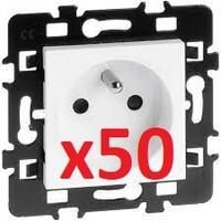 Prise 2P+T x50 pièces, pack chantier EUR'OHM 61869